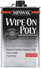 Minwax 40900 Wipe-On Poly Oil-Based Polyurethane Finish Clear Gloss, Pint by Minwax