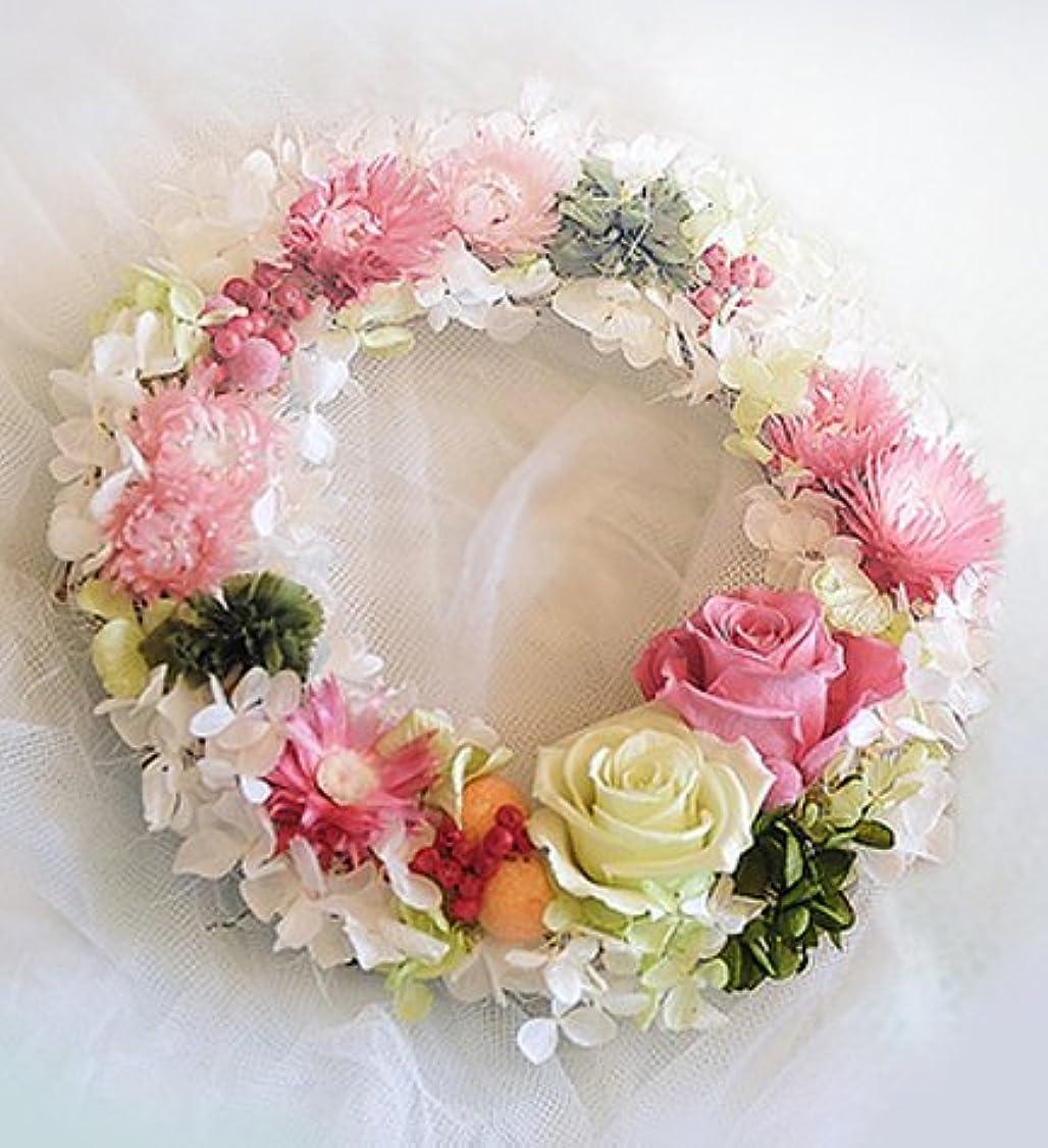 利用可能シネウィ無意味Pastel Color Rose Wreath【プリザーブドフラワー ドライフラワー リース】