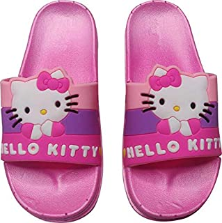 Shankar Enterprises Girls Slip On Kitty Slipper Flip Flop (Pink)