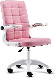 KFDQ Sillas de escritorio, silla de oficina Silla de escritorio Silla ergonómica para computadora Silla de cuero moderna Silla giratoria giratoria Ejecutiva para dolor de espalda Mujeres Hombres Adul