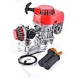 Moteur 49cc 52cc Filtre à air+barre de poignée+câble d'accélérateur Moteur 2 temps de remplacement pour Dirt Bike ATV avec boîte de vitesses Pignon 11T T8F recul en métal