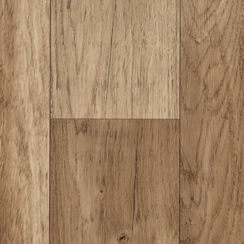 BODENMEISTER BM70568 Vinylboden PVC Bodenbelag Meterware 200, 300, 400 cm breit, Holzoptik Diele Eiche hell