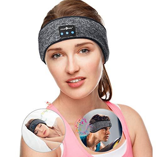 Sleep Headphones Wireless Bluetooth Music Sports Headband Noise Cancelling Sleeping Eye Mask, Great for Side Sleepers Running Yoga Insomnia Travel, Gift for Men Women