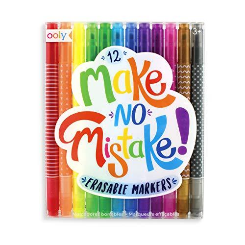 OOLY Make No Mistake Erasable Markers, Set of 12