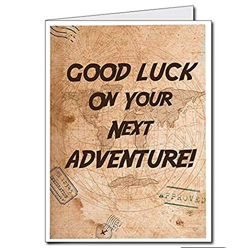 VictoryStore Jumbo Greeting Cards: Giant New Career Card Good Luck On Your Next Adventure You Will Be Missed 2 feet x 3 feet Card with Envelope