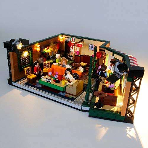 EDCAA LED Light Up Kit For Ideas Central Perk Friends TV Show Series Collectors Set with Iconic Cafe Studio and 7 Designed Set Compatible With Lego 21319 (not included)