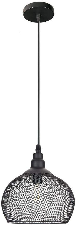 Deckenleuchter Licht Pendelleuchte Moderne Schwarze Kfig Pendelleuchten Eisen Minimalistisch Retro Nordic Loft Pyramidenlampe Metall Hngelampe E14 Indoor [Energieklasse A +]