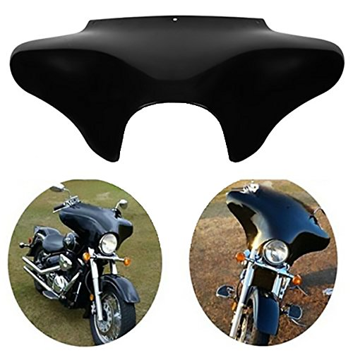 XMT-MOTO Vivid Black Front Outer Batwing Fairing For Harley Softail Road King Dyna Honda Shadow...