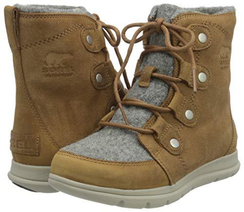 Sorel - Women's Explorer Joan Waterproof Insulated Winter Boot (7, Felt-camel Brown)