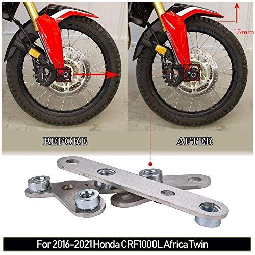 16-21 CRF1000L Accesorios para motocicleta guardabarros delantero de acero inoxidable elevador kit...