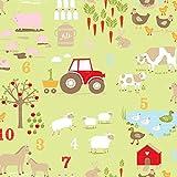 Hans-Textil-Shop Stoff Meterware Bauernhof Farm Jersey - 1