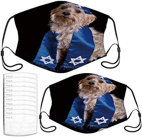 Face Mask Yorkie with A Yarmulke Windproof Masks Set with 10 Filters product image