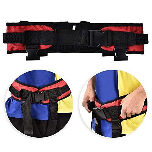 Cinturón de transferencia, Cinturón de transferencia con bucles para las piernas Dispositivo de asistencia de marcha de seguridad de enfermería en pacientes Prevención de caídas para ancianos(XL) ⭐