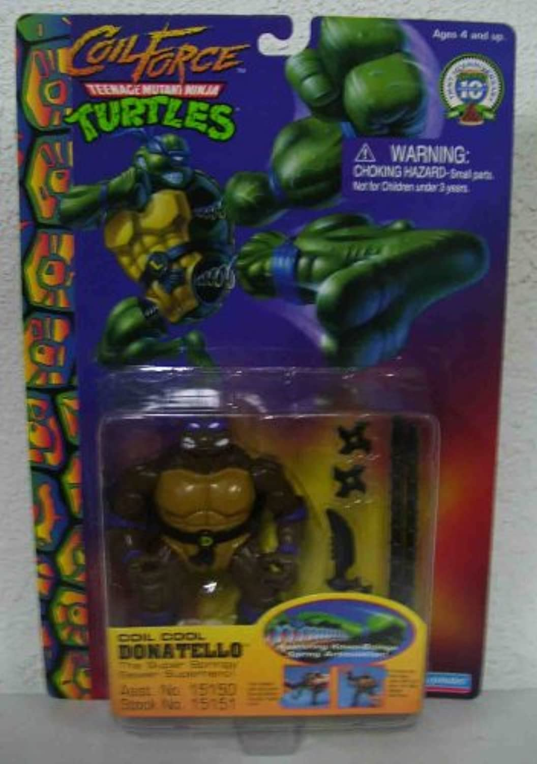 TMNT 10th anniversary Teenage Mutant Ninja Turtles COIL FORCE Coil Cool Donatello by Playmates