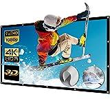 NIERBO Pantalla Proyector, Pantallas para Proyectores 150 Pulgadas 16 : 9 Lavable Pantalla de Proyección Portátil 332x187cm Full HD 3D 4K para Cine en Casa o Exterior
