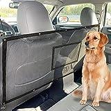 FREESOO Mascota Perro Red Rejilla con Bolsillo Auto Asiento Trasero Cubierta Protectora De Coche Malla Red Barrera para Niños Perros Mascotas 115cmx62cm Universal Protector de Seguridad