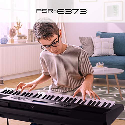 Yamaha PSRE373 61-Key Touch Sensitive Portable Keyboard (Power Adapter Sold Separately)