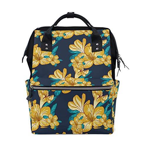 COOSUN - Mochila de viaje con función de gran capacidad, diseño floral, color amarillo