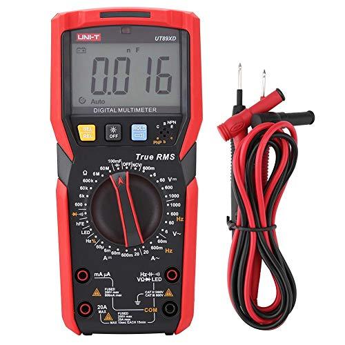 UT89X / UT89XD Multimetro Digitale Tester di Tensione con Sensore di Temperatura (Rosso e Grigio)(UT89XD)