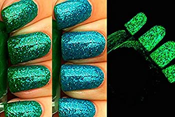 Blue to Green Color Changing AND Glow in the Dark