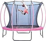 authentic sports & toys Plum 366cm Colours Springsafe Trampolin mit Sicherheitsnetz - Flamingo...