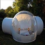 Rsen Tienda de campaña hinchable de burbujas, tienda de campaña familiar para acampada transparente, tienda de campaña de aire con kit de reparación y soplador CE/UL gratis, 3*5M-C