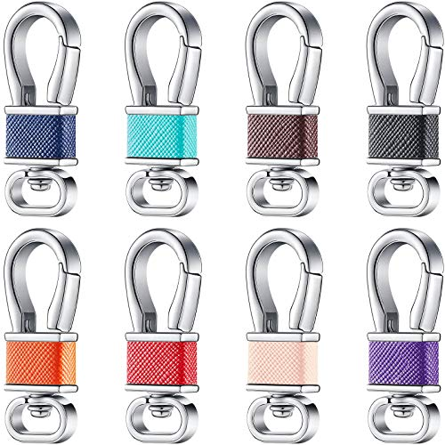 8 Pieces Metal Keychain Key Clip Key Holders Key Chain Key Ring Buckles Key Organizer with Swivel Clasps Keychain Holder for Car Key Organization Supplies, 8 Colors