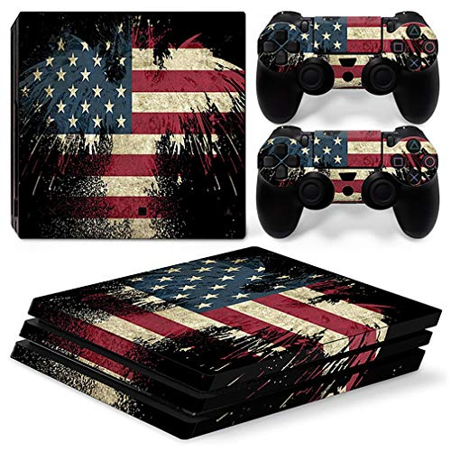 Playstation 4 PS4 PRO game console and game controller Starry Sky Sticker PS4 game console controller vinyl skin decals Play Station 4 Pro protective sleeve colorful sticker 1 game console sticker + 2 game controller sticker (TN-P4Pro-0974)