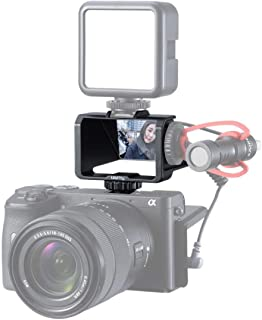 YunB Sony A7III / A6000 / Fujifilm XT2 / XT3 / Canon/Panasonic GX85 / Nikon Z7用Vlog Selfieフリップスクリーン、3つのコールドシューズとミラーを備えたミラー...