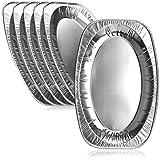 com-four® 6X Piatti da Portata in Alluminio USA e Getta, vassoi ovali - Ciotole ovali in Alluminio per Matrimoni, Catering, Gastronomia, Compleanni o Feste (42,5x28,5 cm - 06 Pezzi)