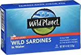 Wild Planet Wild Sardines in Water, No Salt Added, Keto and Paleo, 4.4 Ounce