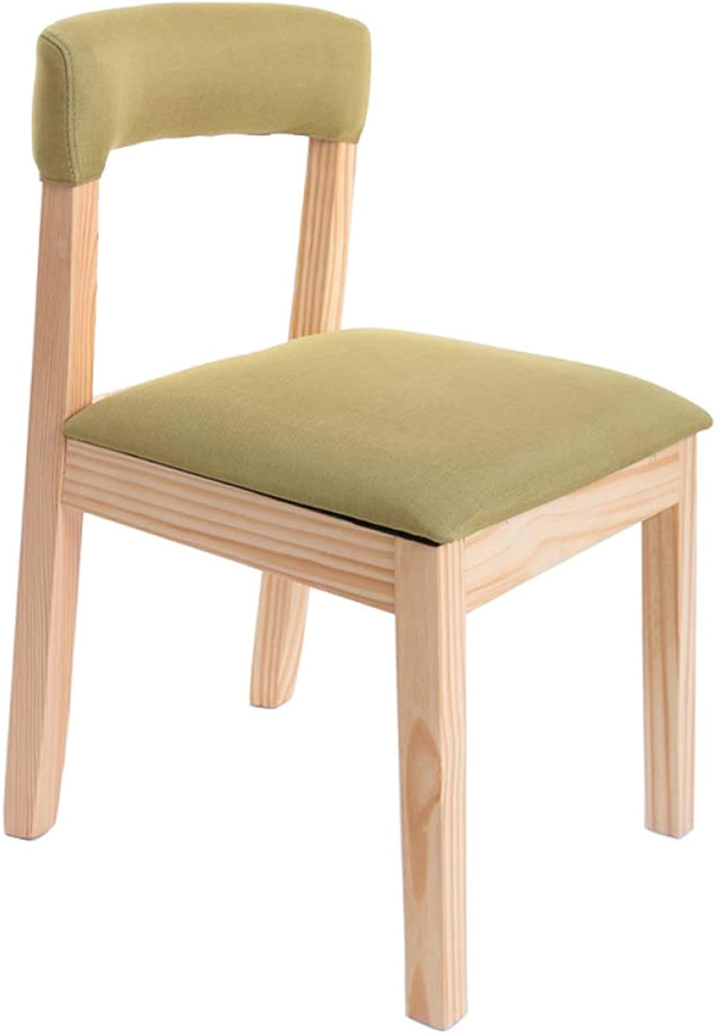 SSHHI Chair,Solid Wood Cotton and Linen Detachable Washable Stable Chairs,Durable Living Room Restaurant Study