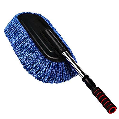 AMYMGLL Brosse de voiture voiture nettoyage fournitures poussière Shan voiture brosse cire cire cire brosse nettoyage voiture vadrouille plat gris et bleu PE sac, blue