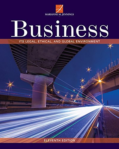 Compare Textbook Prices for Business: Its Legal, Ethical, and Global Environment 11 Edition ISBN 9781337103572 by Jennings, Marianne M.
