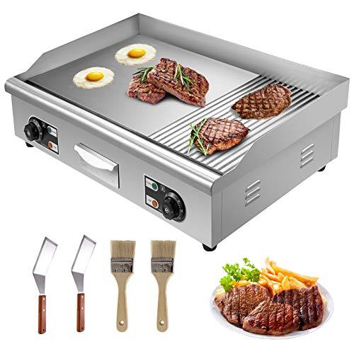 HuSuper 4400w Grill Plate Electric 74cm Countertop Griddle Griddleplatte Edelstahl Gastro Grill BBQ Kochplatte für Barbecue BBQ Cooking