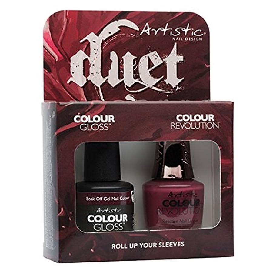 知恵親指感心する-Artistic Nail Design - Duet Gel & Polish Duo - Roll Up Your Sleeves - 15 mL / 0.5 oz