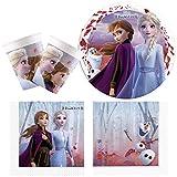 Procos- Disney Set de Fiesta de Frozen 2, Anna y Elsa, Mittel (16 Personen (10134722)