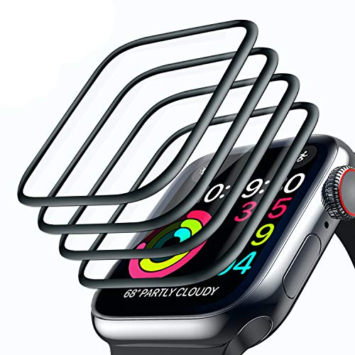 Tentoki [4 Pack] Screen Protector for Apple Watch 38mm Series 3 2 1, HD Full Coverage Flexible TPU Screen Protector Film [Bubble-Free] [Anti-Scratch] Compatible with iWatch Series 3/2/1 38mm