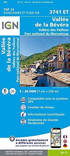 Vallées de la Bévéra et des Paillons - Parc National du Mercantour 1:25 000