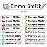 50 Etiquetas Adhesivas Personalizadas para marcar objetos, libros, fiambreras, etc. Medida 6 x 1 cm....