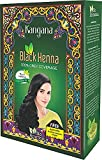 Kangana Black Henna Powder for 100% Grey Coverage | Natural Black Henna Powder for Hair Dye / Color | Naturals Henna Hair Color - 6 Pouches Inside- Total 60g (2.11 Oz)