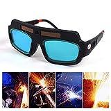 KOBWA Gafas de Soldar de Oscurecimiento Automático, Gafas de Protección...