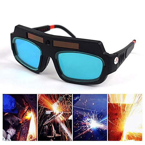 KOBWA Automatik Schweißbrille, Solar Schweißbrille mit Automatische Verdunkelun, Augenschutz Schweißbrillen Ding 3-11 für ARC TIG Mig
