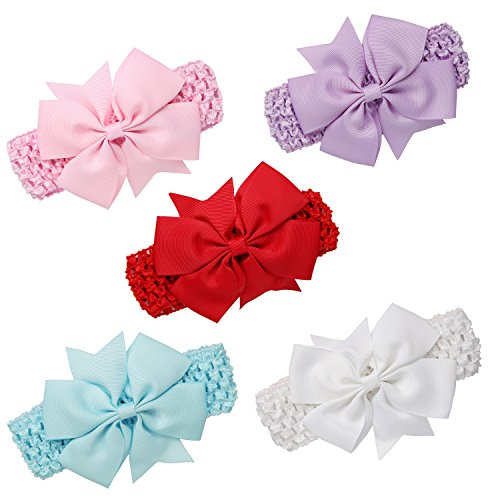 GoFriend Lot de 5 bandeaux à cheveux pour fille Idéal pour les très jeunes enfants Multicolore