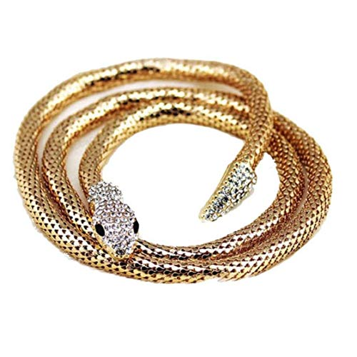 TOPofly Serpiente de la Vendimia Joyas Accesorios de Ropa de Mujer del Metal del Collar de la Manera Adecuada para 1pcs de Oro del día de San para la joyería