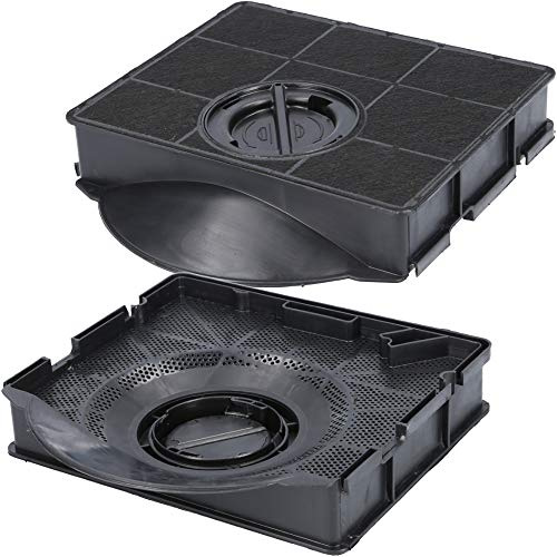 2x Aktivkohlefilter für Dunstabzugshaube geeignet als Alternative für Kohlefilter 484000008581 + 9029800555, für Dunstabzug von AEG Electrolux, Bauknecht, Elica, Whirlpool, uvm.