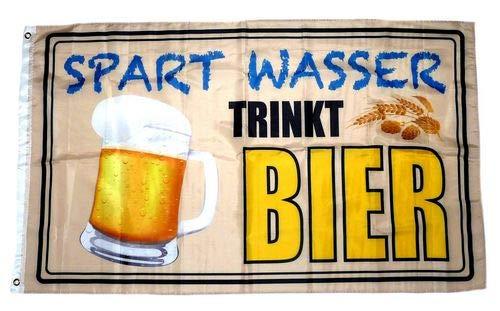 Fahne/Flagge Spart Wasser Trinkt Bier 90 x 150 cm