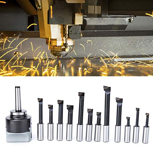 Find Discount Carbon Steel MT2 Boring Bar, 3In Boring Tool Set Rough Boring Head Suitable for Millin...