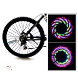 Fine LED Bike Spoke Lights,Colorful Wheel Decoration Cycling Safety Light, Bike Wheel Lights Spoke Light Waterproof Tire Lights for Bicycle Decoration (Blue)