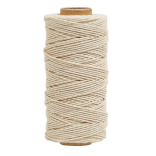 Tenn Well Bakers Twine, 328 Feet 3Ply Cotton Kitchen Twine Food Safe Cooking String for Tying Meat, Trussing Chickens, Making Sausage and More
